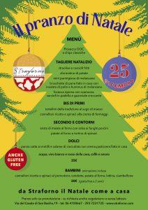Il pranzo di Natale 2020 da Straforno, a via Casale di San Basilio 19. Prenota per festeggiare da noi insieme ai tuoi cari!